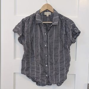 Cloth & stone gingham plaid short sleeve button up